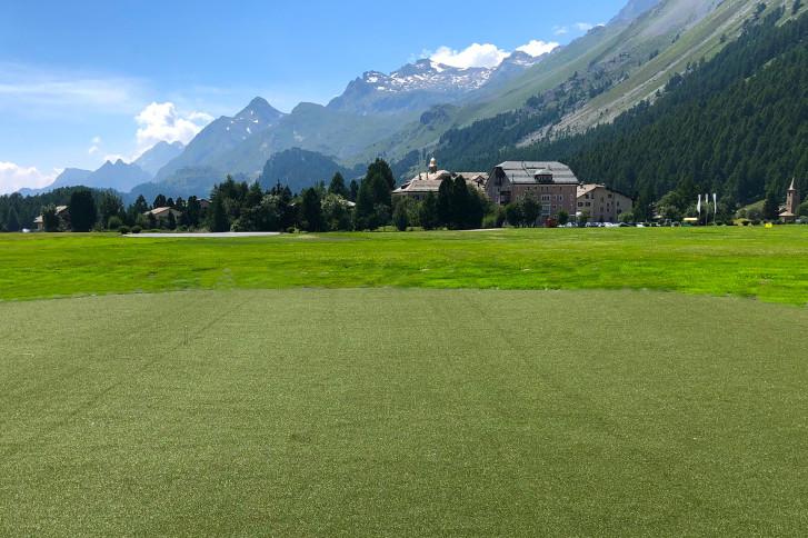 Kunstrasen EAGLE für den Golf Academy Course des Parkhotels Margna in Sils